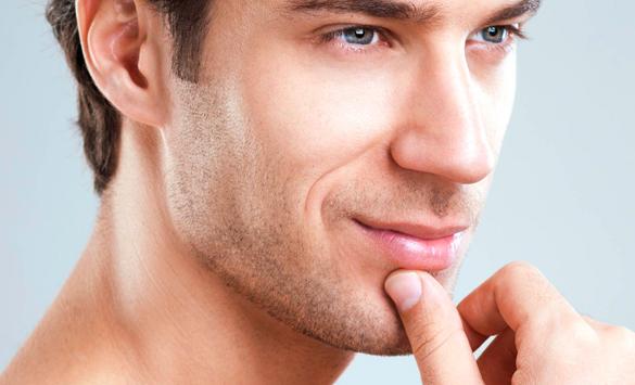 Prótesis de mentón para hombres